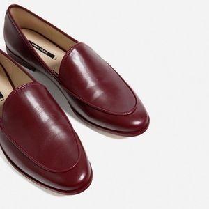 Zara reddish brown loafers.  Worn 1x.